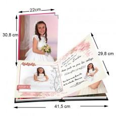 Álbum de firmas y buenos deseos 22x30,8 cm