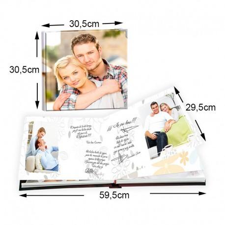 Álbum de firmas y buenos deseos 30x30 cm