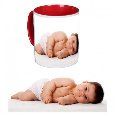 Taza de cerámica de color infantil