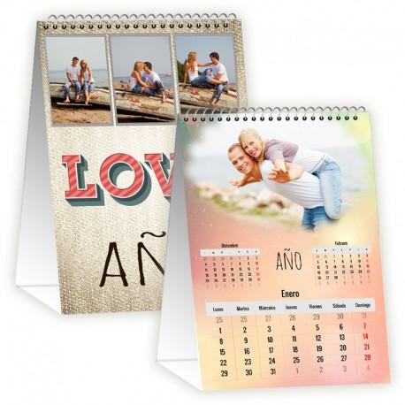 Calendario mesa vertical 12 meses + portada