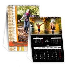 Calendario mesa negro vertical 12 meses + portada