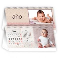Calendario mesa horizontal 12 meses + portada
