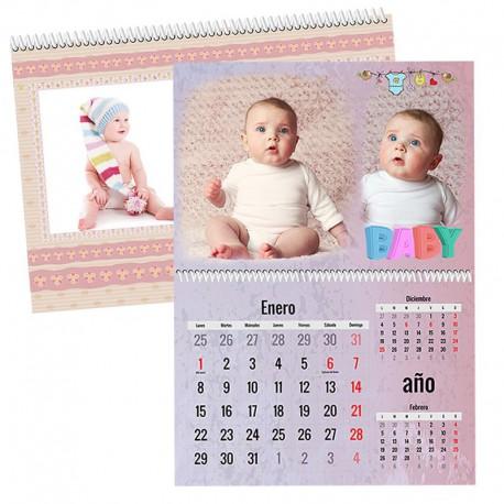 Calendario pared dobles 12 páginas + portada