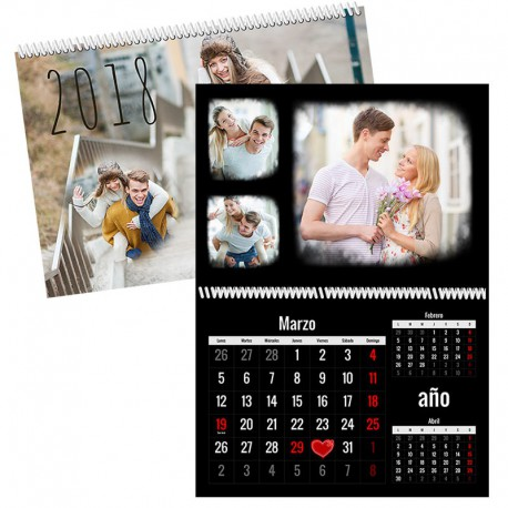 Calendario pared dobles 12 páginas + portada