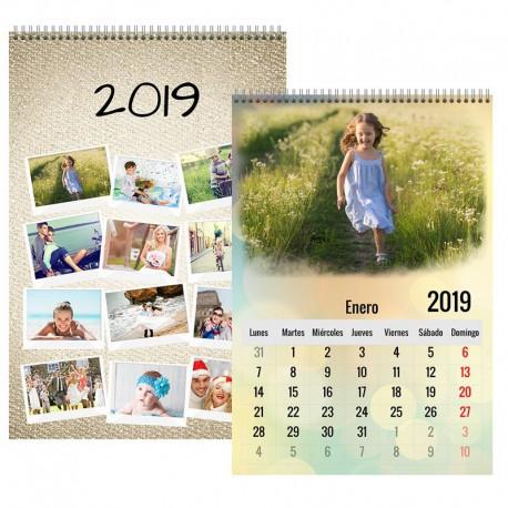 Calendario pared 12 hojas - portada mes vista