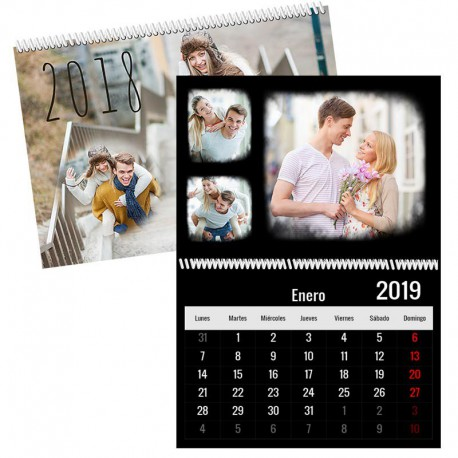 Calendario pared dobles 12 páginas + portada mes vista